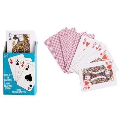 jeu de 54 cartes mini version voyage