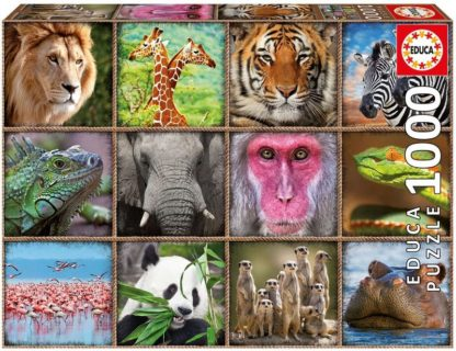 puzzle Wild Animals Collage (1000pcs)