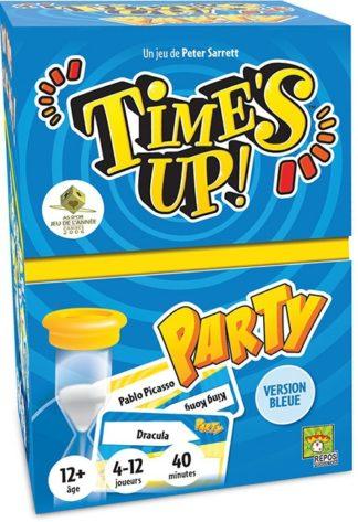 Times Up Party 2 bleu version boite carton